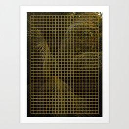 Jungle Grid Graph Gold Art Print
