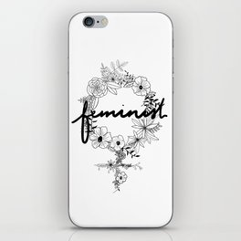 Feminist - Black & White iPhone Skin