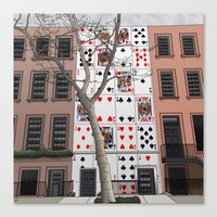 house of cards Canvas Prints featuring House of Cards by AdamSteve
