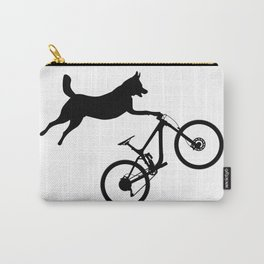 funny MTB mountain bike cycling dog lover gift Carry-All Pouch