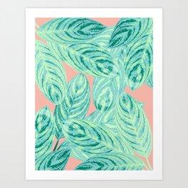 Tropical Leaves Vibes #3 #tropical #foliage #decor #art #society6 Art Print
