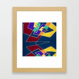 abstract skull and its reflection Framed Art Print