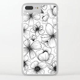 Floral Wallpaper: 1 Clear iPhone Case