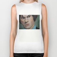 sam winchester Biker Tanks featuring Bedtime Stories (Sam Winchester) by Lauren Craig