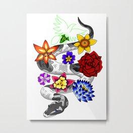 Snake Piece #45 - Colour Pop Metal Print