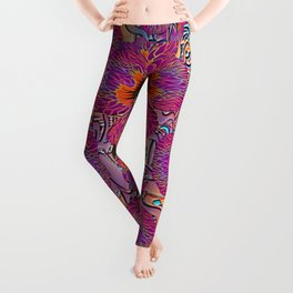 The Lost Pansy Flower Forest Leggings