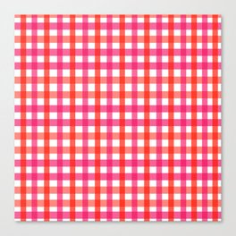 Gingham: Strawberry Flavor Canvas Print