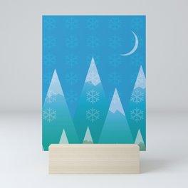 Winter in the Mountains Mini Art Print