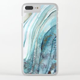 Water and Stone Clear iPhone Case