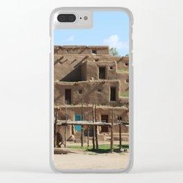 A Taos Pueblo Building Clear iPhone Case