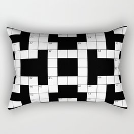 Cool Crossword Pattern Rectangular Pillow