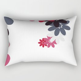 Creative Abstract Design from Random Colorful Flowers Rectangular Pillow
