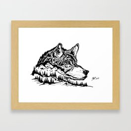 Mt. Lupus Framed Art Print