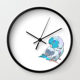 baby blue parrotlet Wall Clock