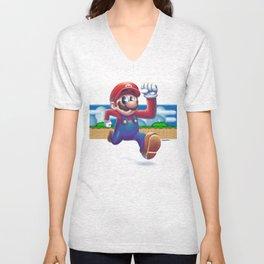 Super Mario - Retro Games Unisex V-Neck