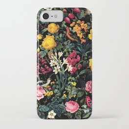 Floral and Birds Pattern iPhone Case