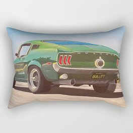 Bullitt Mustang painting Rectangular Pillow