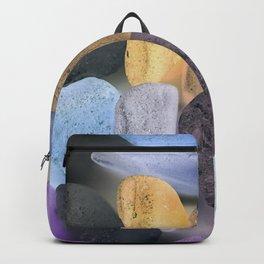 New England beach glass ultraviolet Backpack