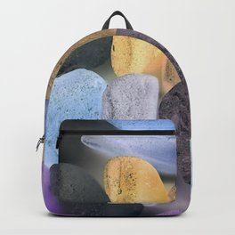 New England beach glass ultraviolet Backpack