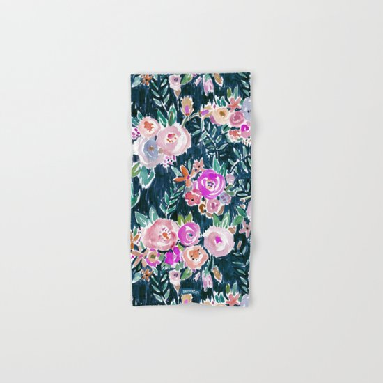 PROFUSION FLORAL - MIDNIGHT Hand & Bath Towel
