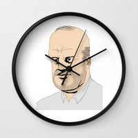 homer Wall Clocks featuring Homer by Miguel Villasanta