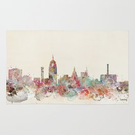 lansing michigan skyline Rug