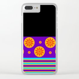 Ultra Violet Sun Rays Clear iPhone Case