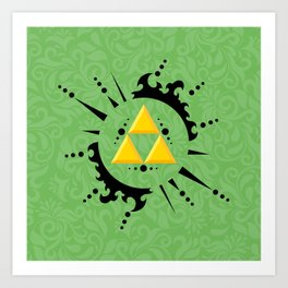 Triforce Zelda Art Print