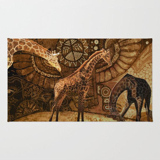 Three Giraffes Rug