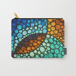 Kindred Spirits - Spiritual Mosaic Painting by Labor Of Love artist Sharon Cummings Carry-All Pouch