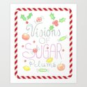 Visions of Sugar Plums Watercolor by thistlekeylane2015