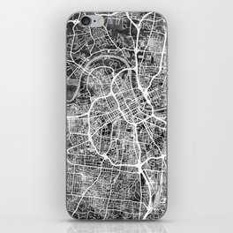 Nashville Tennessee City Map iPhone Skin