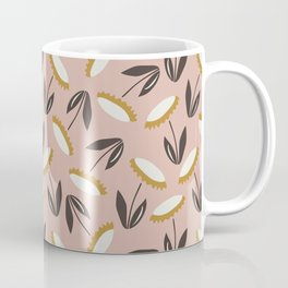 Echinacea pattern - dusty rose and white palette  Coffee Mug