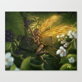 Fairy and blackberry Canvas Print