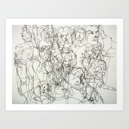 scribblesheet one Art Print