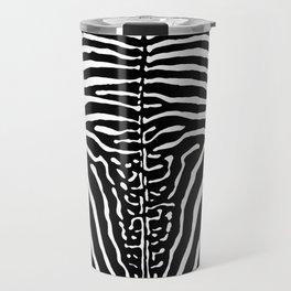 Zebra Stripes Print Travel Mug