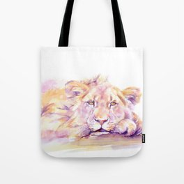 Lion _ Too hot to hunt Tote Bag