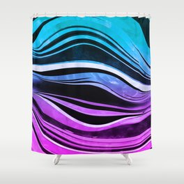 Melting Neons Shower Curtain
