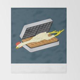 Rubber Chicken & Waffles Throw Blanket