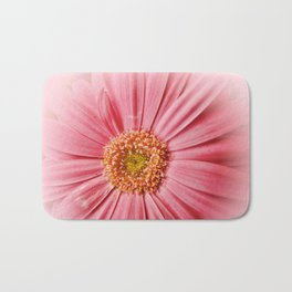 Pink Gerbera Daisy at Barthel's Farm Market Bath Mat