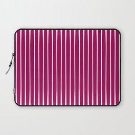Crimson Striped Laptop Sleeve