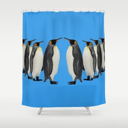 Penguins on Parade Shower Curtain