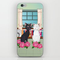 anime iPhone & iPod Skins featuring Anime Cats by MyimagesArt