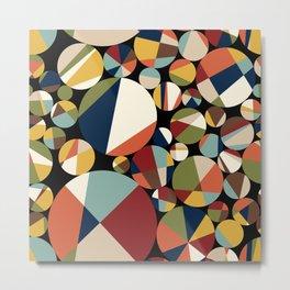Mid Century Modern Circle Abstract Metal Print