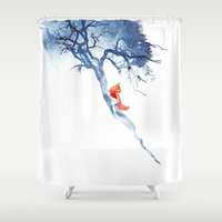 fox Shower Curtains featuring There's no way back by Robert Farkas