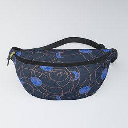 Moon Cycles - Blue Fanny Pack