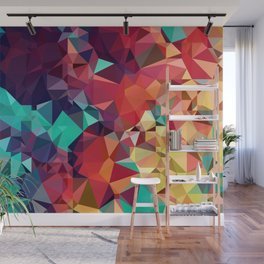 Abstract Rainbow Gem Wall Mural