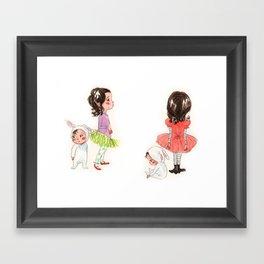 My Sister the Bunny Girl Framed Art Print