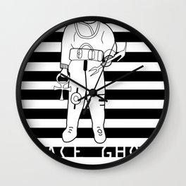 SPACE GHOST BLK Wall Clock