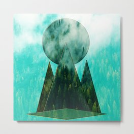 TRIANGLES IN THE WOOD Metal Print
